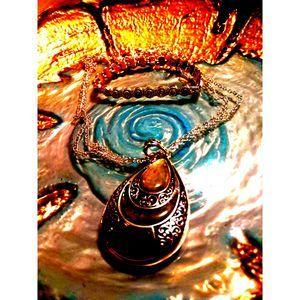 Multistone Silver Necklace & Bracelet